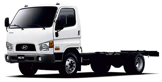 шасси Hyundai HD78