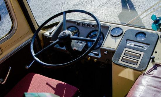 место водителя ЛиАЗ 677