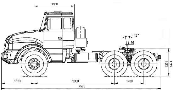 габаритные размеры Урал-44202-59