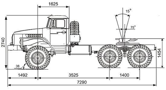 габаритные размеры Урал-44202-31