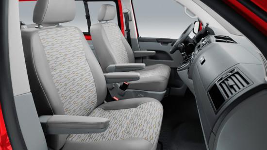 интерьер кабины Volkswagen Transporter T5