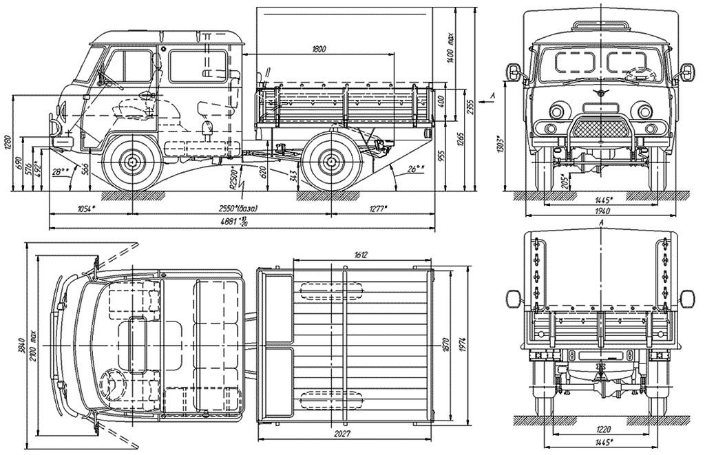Размеры УАЗ 39094