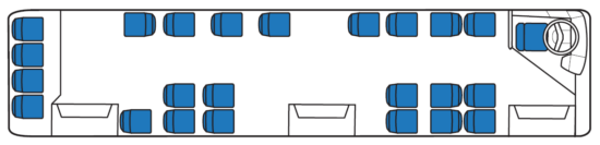компоновка салона городской модификации ЛиАЗ-5256