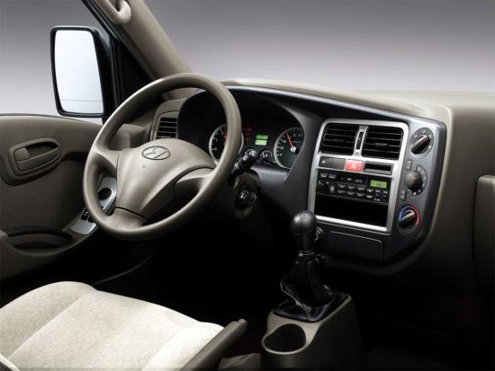 интерьер кабины Hyundai Porter II