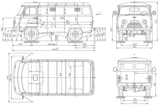 схема УАЗ-3741 (37419)