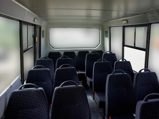 в салоне микроавтобуса ГАЗель Некст