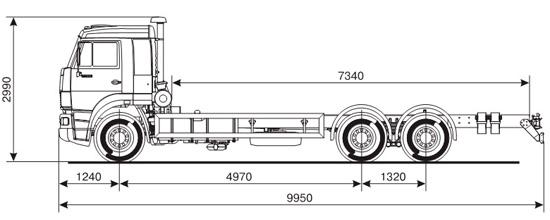 шасси КамАЗ-65117 (дорестайлинговый)