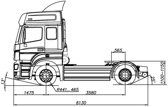 размеры КамАЗ-5490