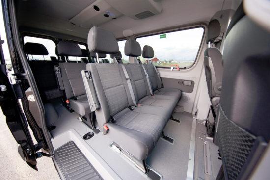 в салоне микроавтобуса Mercedes-Benz Sprinter 2 (W906)