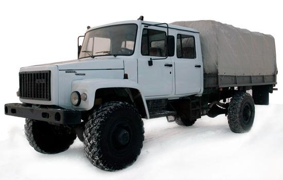 ГАЗ 33081 Садко с двухрядной кабиной