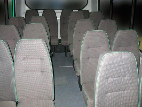 салон автобуса Газель Некст