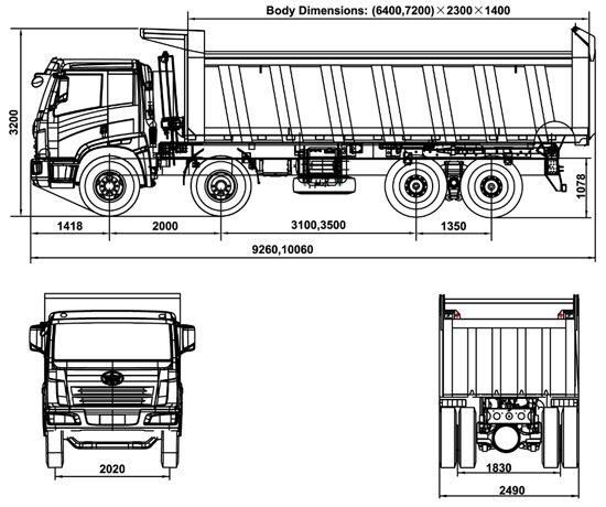 габаритные размеры FAW CA3312