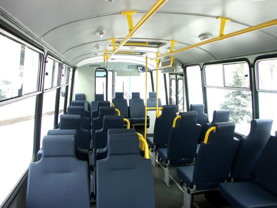 в салоне автобуса ПАЗ 4234