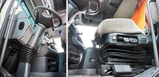 компоновка и оснащение места водителя