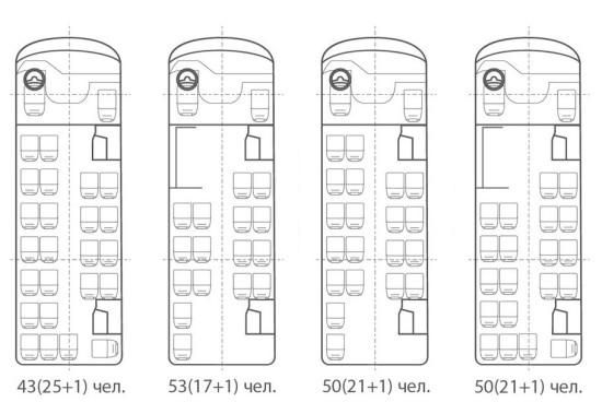 компоновка салона автобуса Вектор-Next