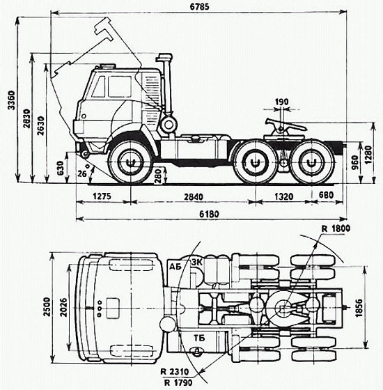 размеры КамАЗ-5410