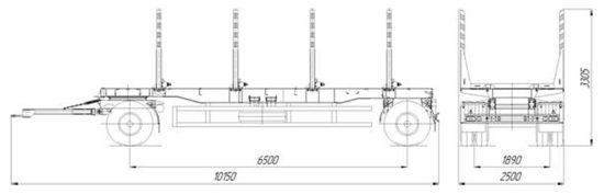 габаритные размеры НефАЗ-8332-09