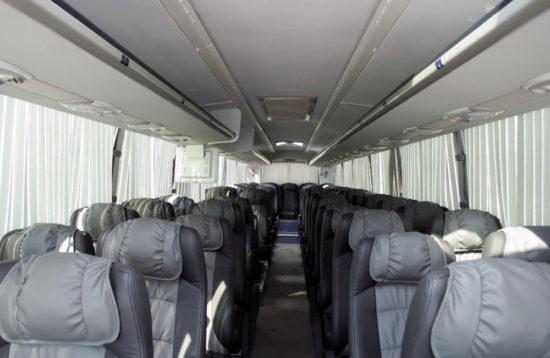 в салоне Scania Higer A80
