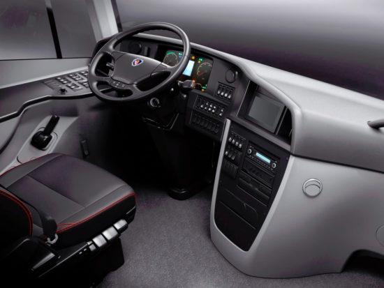 в кабине (водительское место) Scania Touring