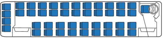 компоновка салона ЛиАЗ-5256-01 (пригородных)
