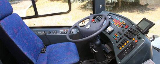 в кабине ЛиАЗ-6213