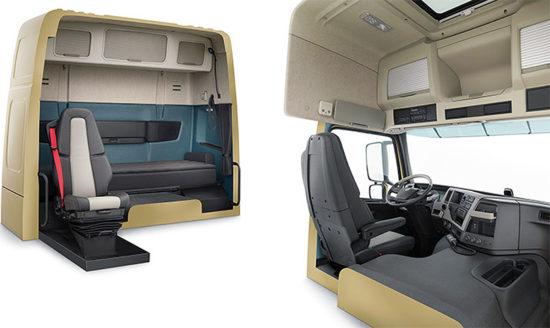 в кабине Volvo FM 3-го поколения