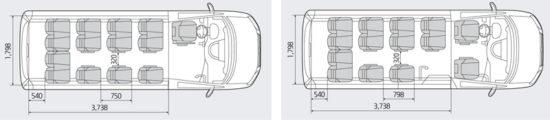компоновка салона Hyundai H350 Minibus