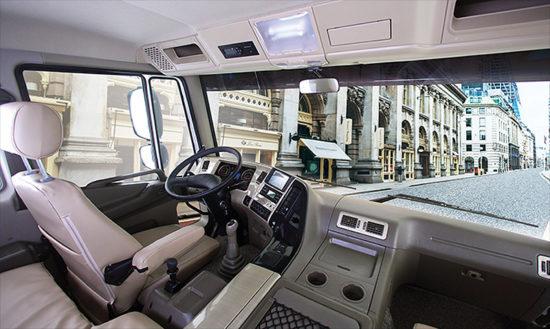 интерьер кабины Daewoo Novus SE Cargo Heavy