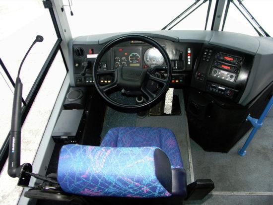 место водителя Scania-ЛиАЗ VOYAGE