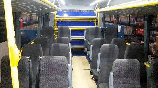 в салоне школьного автобуса БРАВИС-3297