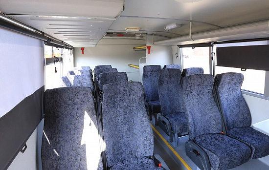 пассажирский салон НефАЗ-42111 (с полками)