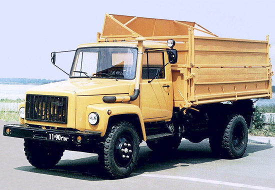 самосвал ГАЗ-3307 1990-х годов