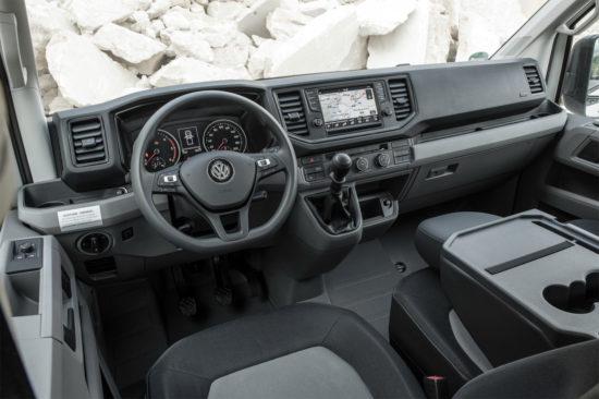 интерьер салона VW Crafter 2 Pritsche