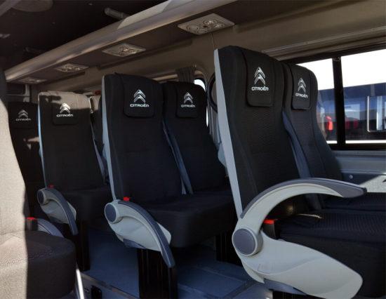 в салоне автобуса Citroen Jumper 3 Minibus