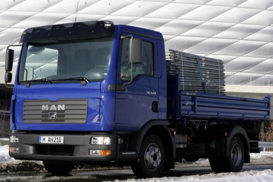 бортовой грузовик MAN TGL 4x2 1-го пколения